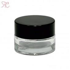 Transparent glass jar, 5 ml