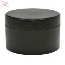 Black plastic jar, 200 ml