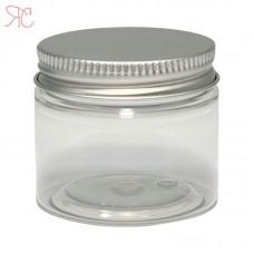 Transparent tall plastic jar, 50 ml