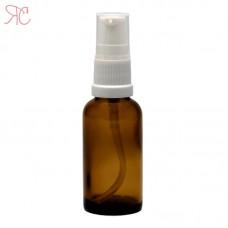 Amber glass bottle for light lotions, 30 ml