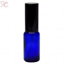 Blue glass perfume bottle with spray pump, 20 ml