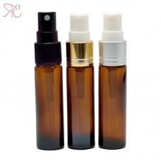 Amber glass perfume bottle with fine mist pump, 10 ml